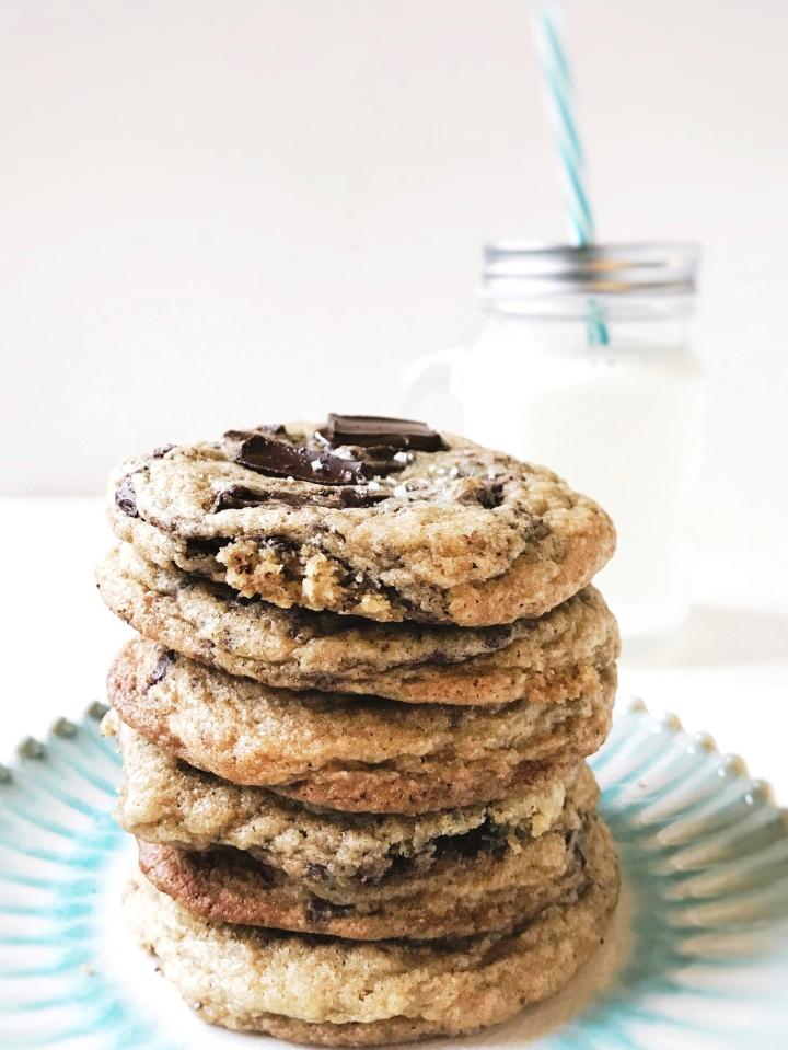 Dark chocolate chunk fleur de selcookies
